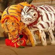 animal mask dance
